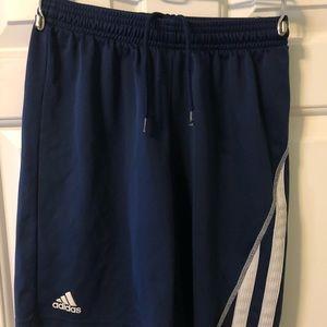 ⚽️Adidas Clima youth EUC shorts, navy, drawstring